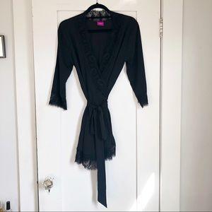 L'Agent by Agent Provocateur Black Lace Robe